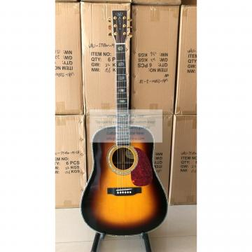 Custom Sunburst Martin D-45 ss Dreadnought Guitar All Solid Wood
