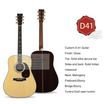 Custom best acoustic electric guitar Martin D-41 guitar for sale
