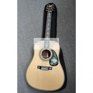 custom Martin D100 deluxe acoustic guitar